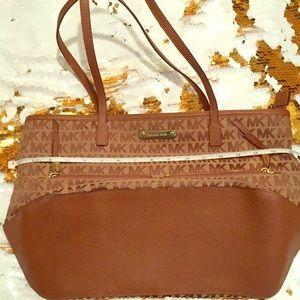 Michael Kors Brown and tan tote purse